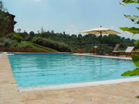 Montaione Villa Panorama with pool between Florence -Siena